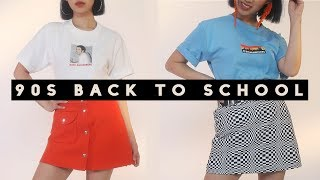 90's Back to School Lookbook | 👕 T-shirt Outfits 2017 thumbnail