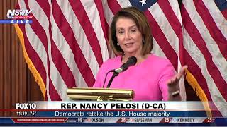FULL POST-ELECTION NEWSER: Nancy Pelosi speaks  day after democrats take control of the House