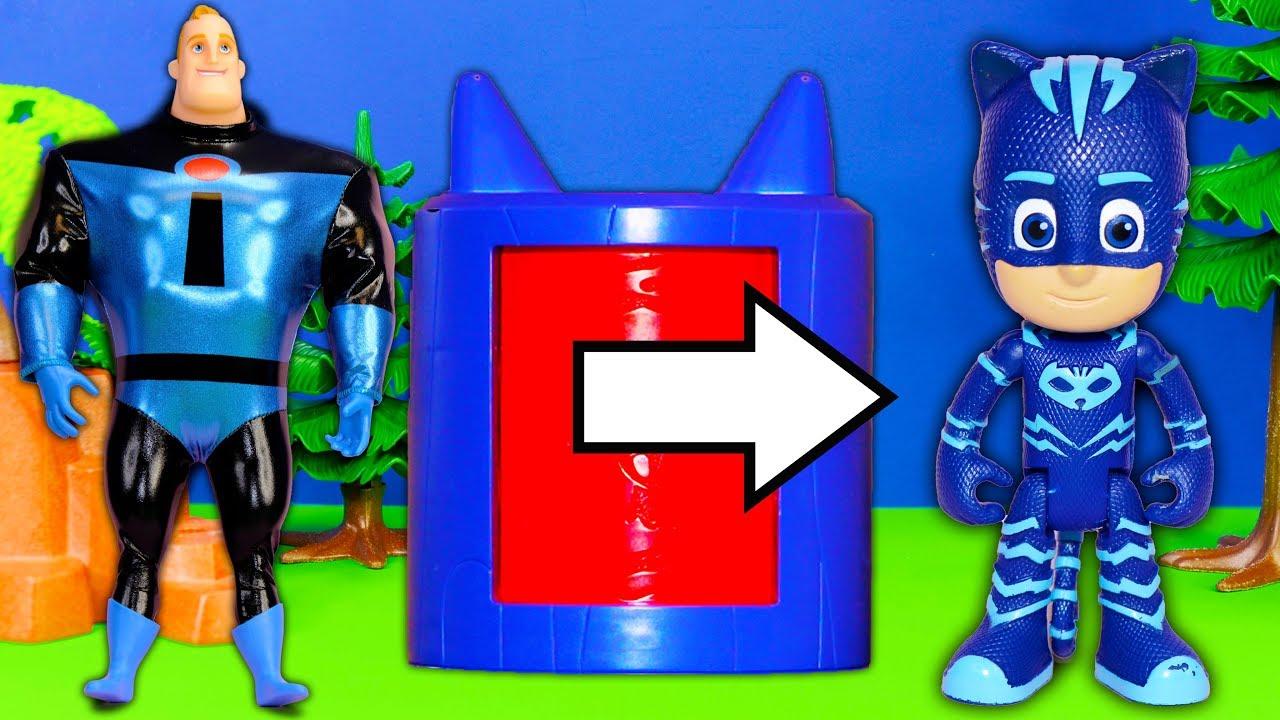 Incredibles 2 Costume Characters Jack Jack and Elastigirl with PJ Masks and Paw Patrol & Incredibles 2 Costume Characters Jack Jack and Elastigirl with PJ ...