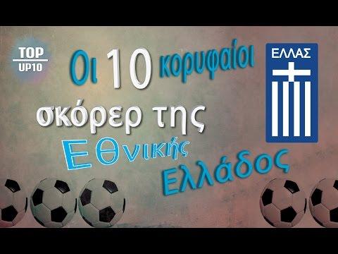 Tοp 10 Kορυφαίοι σκόρερ της Εθνικής Ελλάδος