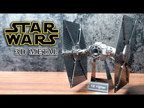 DIY 3D Miniature Metal Puzzle Star Wars TIE Fighter