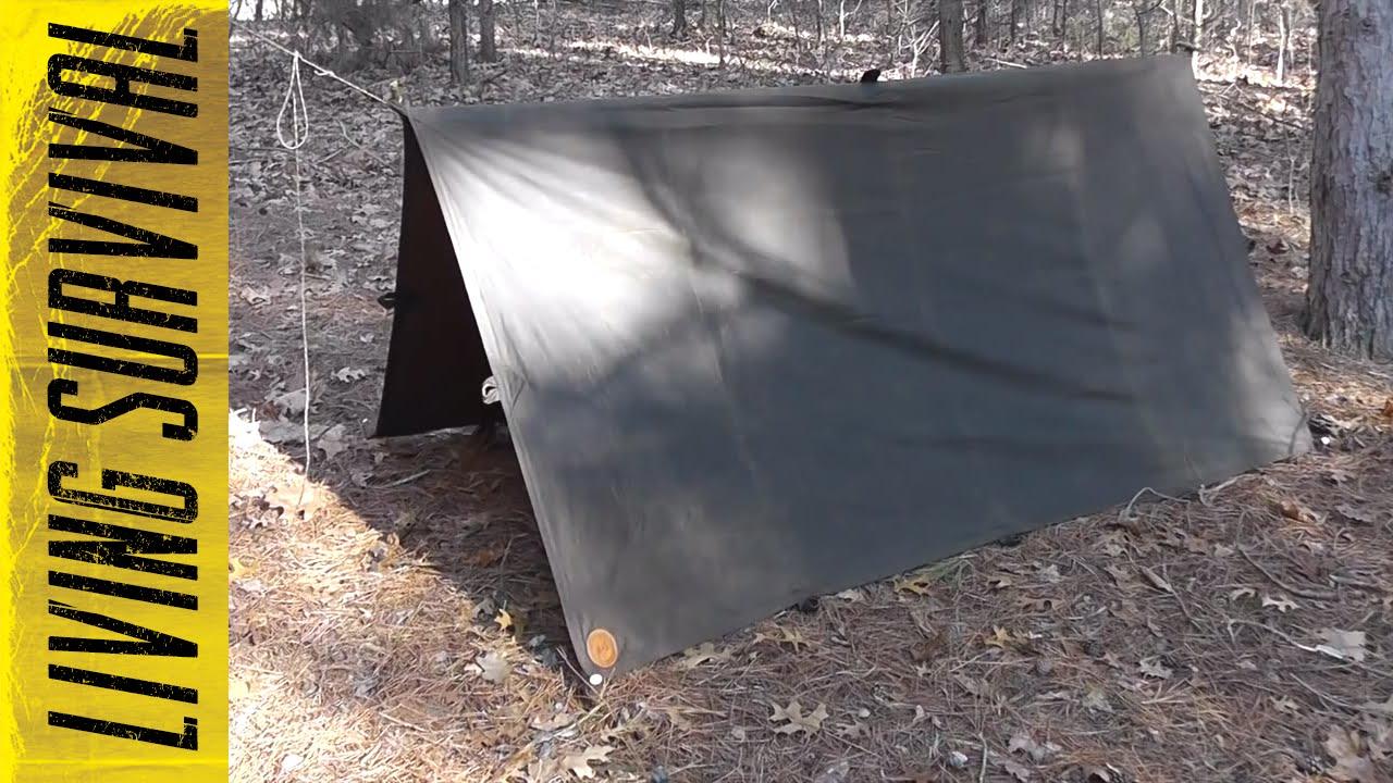 & Deer Creek Oilskin Tarp u0026 Haversack Review - YouTube