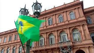 El presidente Mauricio Macri recibe a su par brasileño Jair Bolsonaro