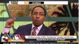 ESPN First Take   Should Pete Rose Be In the Hall of Fame