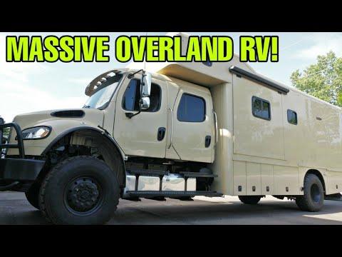 Crazy HUGE Off-Road Military Super C Motorhome RV!