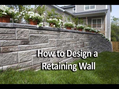 how to design a retaining wall youtube - Retaining Wall Blocks Design