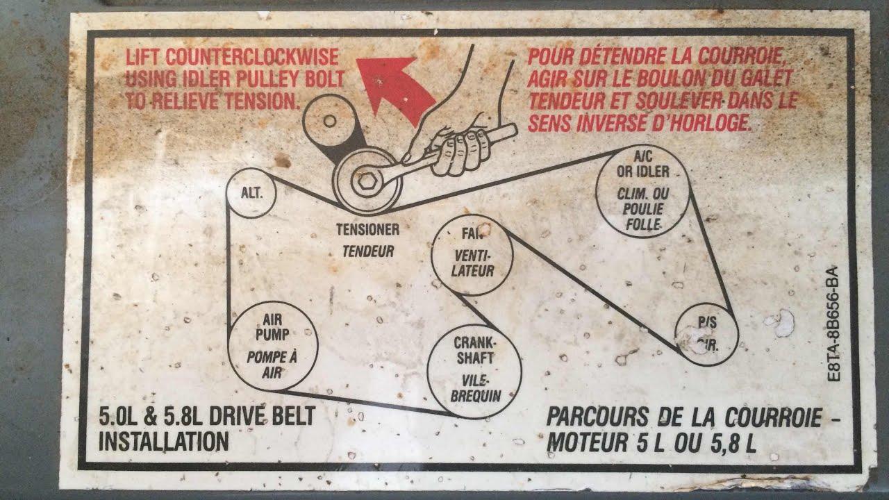 medium resolution of 1992 ford f150 pulley diagram wiring diagram used 92 ford f 150 302 wiring diagram