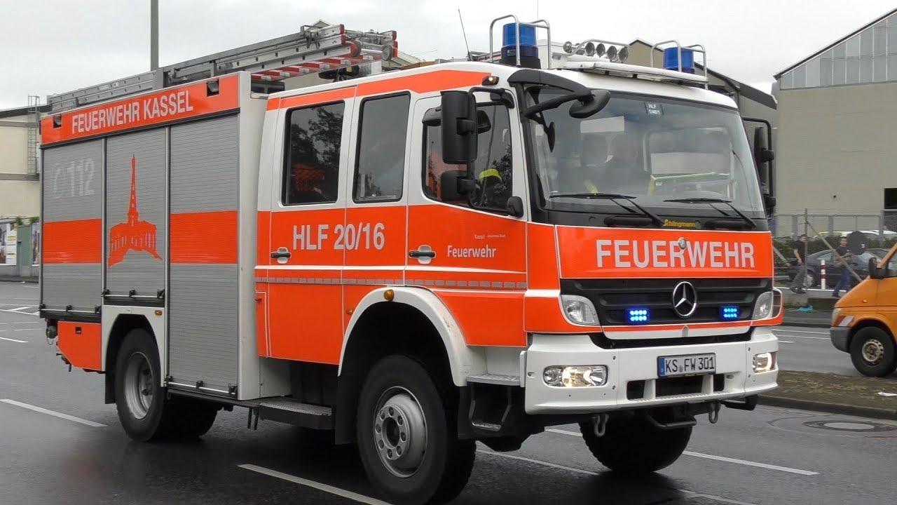 HLF 1 46 2 Feuer-   Rettungwache 1 Kassel + ASB RTW 6-84-2 - YouTube 45f72d7bb7808