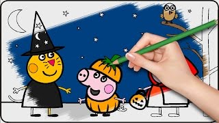 Peppa Pig Coloring Pages for Kids - Peppa Pig Halloween Coloring Pages - Peppa Pig Coloring Book p02