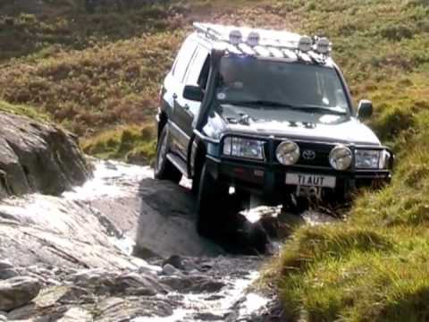 toyota land cruiser 100 off-road - youtube