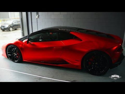 Lamborghini Hurac 193 N Wrapped Satin Chrome Red Youtube