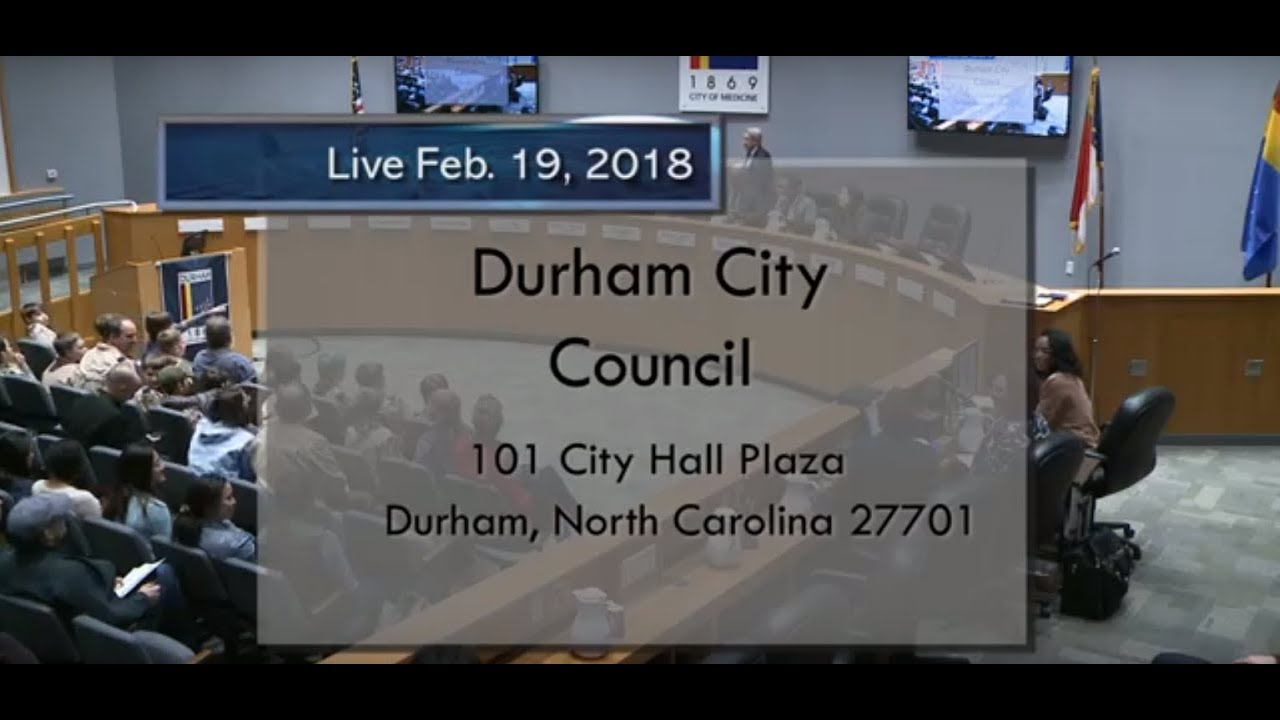 Durham City Council Feb 19 2018 Youtube