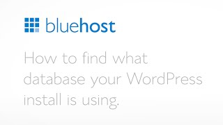 How to find which database your WordPress install is using.