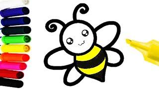 como dibujar una abeja fácil - DIBUJOS FÁCILES PARA NIÑOS Y NIÑAS