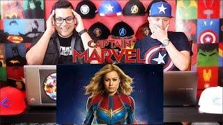 Captain Marvel Trailer Reaction!