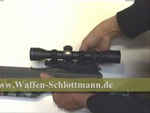 Zielfernrohr an exkalibur armbrust montieren.wmv youtube