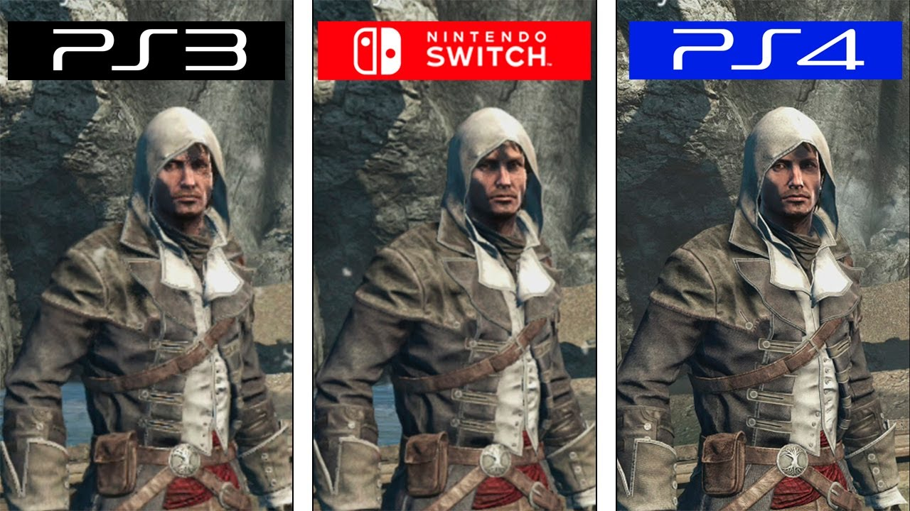 Here S A Comparison Of Assassin S Creed Rogue On Switch Ps3 And