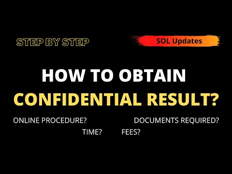 How to Obtain Confidential Result I Step By Step Guide I SOL Updates