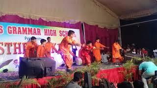 Shankar ji ka beta gadi Mein Baitha song  from genius High School annual day celebration  Shadnagar