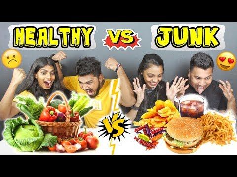 HEALTHY VS JUNK FOOD EATING CHALLENGE | HOME FOOD vs JUNK FOOD COMPETITION | Food Challenge (Ep-192)