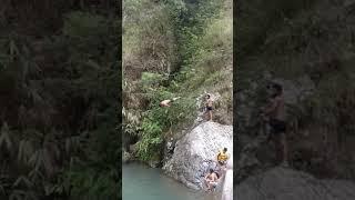 Nepali Dive in Pond