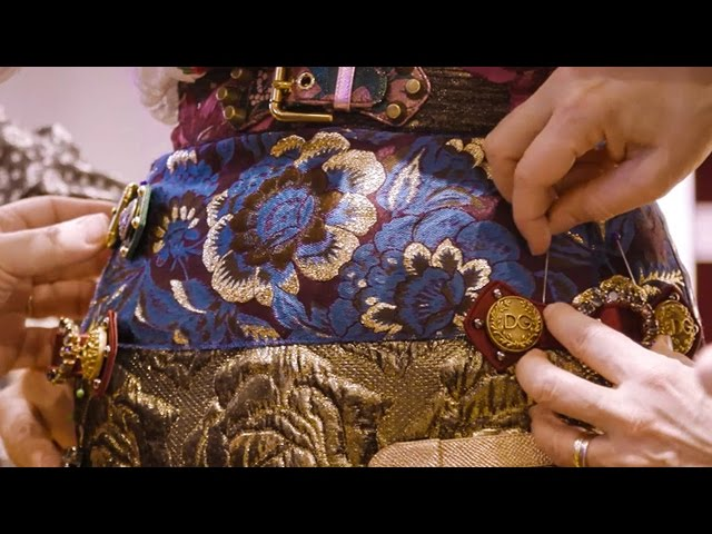 Dolce & Gabbana Herbst Winter Damenmode Show: am Vortag.