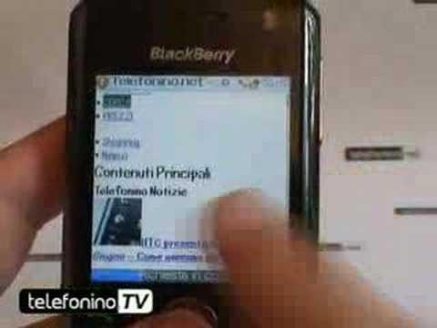 La videoprova del blackberry 8100 pearl