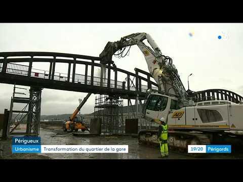 La Passerelle SNCF De Périgueux Disparaît Progressivement