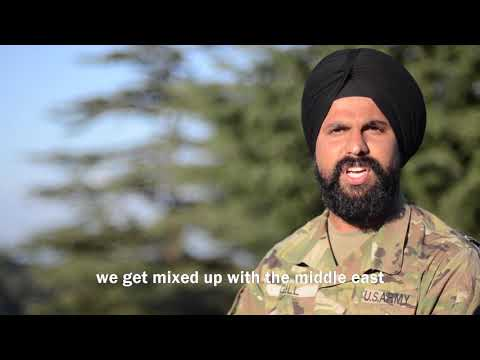Sikh Soldier Serves His Country