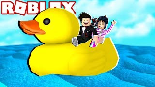 O BARCO EM FORMA DE PATO | Roblox - Build A Boat For Treasure