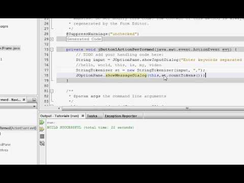 Java Tutorials - Analyzing and splitting Strings using String Tokenizer - Session 29