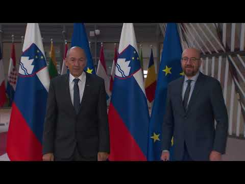 President Michel meets Prime Minister of Slovenia in Brussels