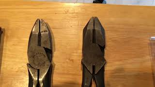 "Have Klein 9"" High Leverage Lineman's Pliers Changed in the last 60 Years?  Let's find out."