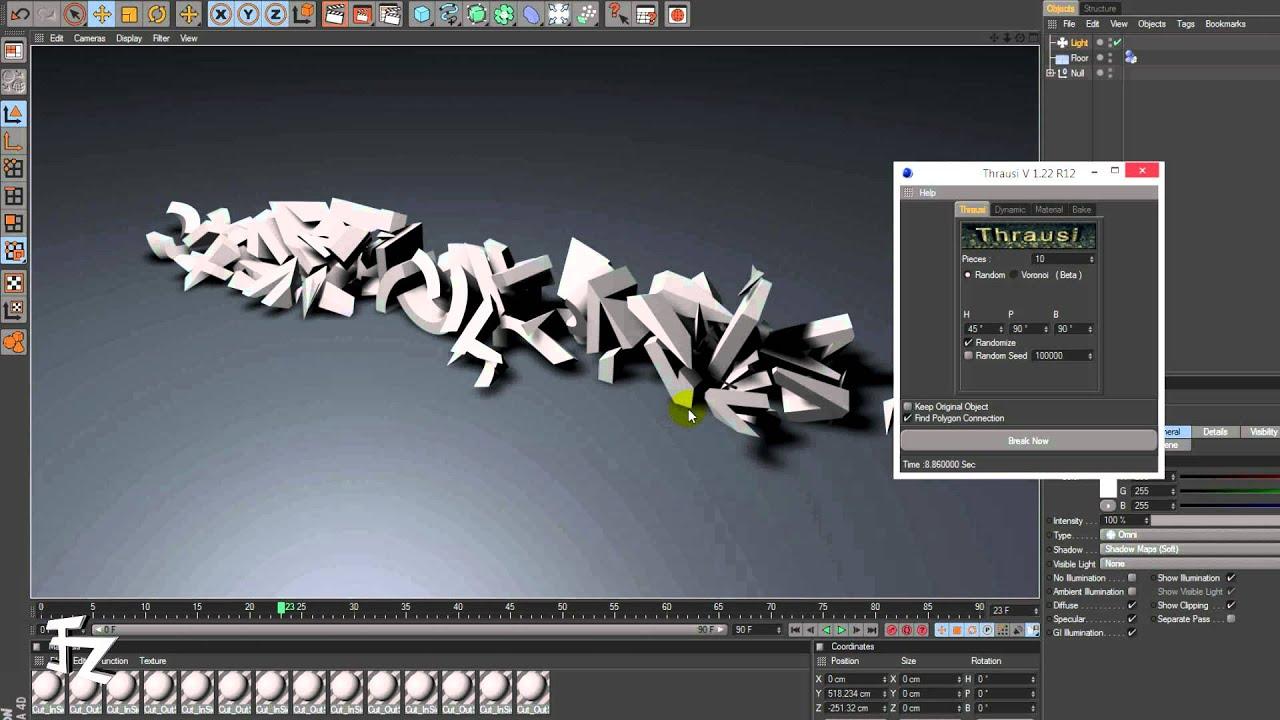 Cinema 4d thrausi plugins basic youtube for Cinema 4d raumgestaltung