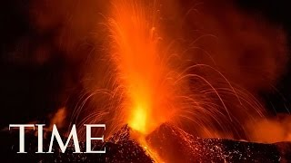 Mount Etna's First Eruption Creates Stunning Light Show In Sicily | TIME