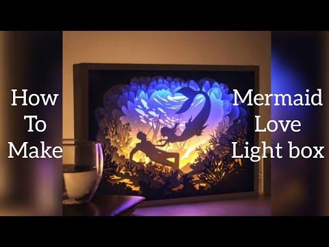 Papercut light box Mermaid