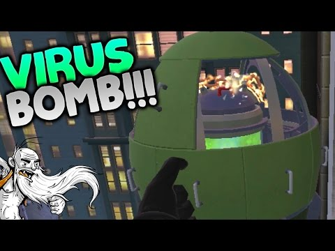 """I Expect You To Die Gameplay - """" DEADLY VIRUS SUPER BOMB!!!"""" HTC Vive Let's Play"""