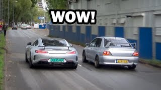 Modified cars leaving a car show (100% Auto Live 2019)