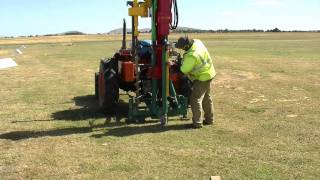 Post Driver AutoDriver aeroplane anchor installation