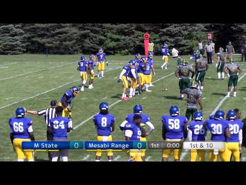 2018 09 01 MState Football vs  Mesabi Range