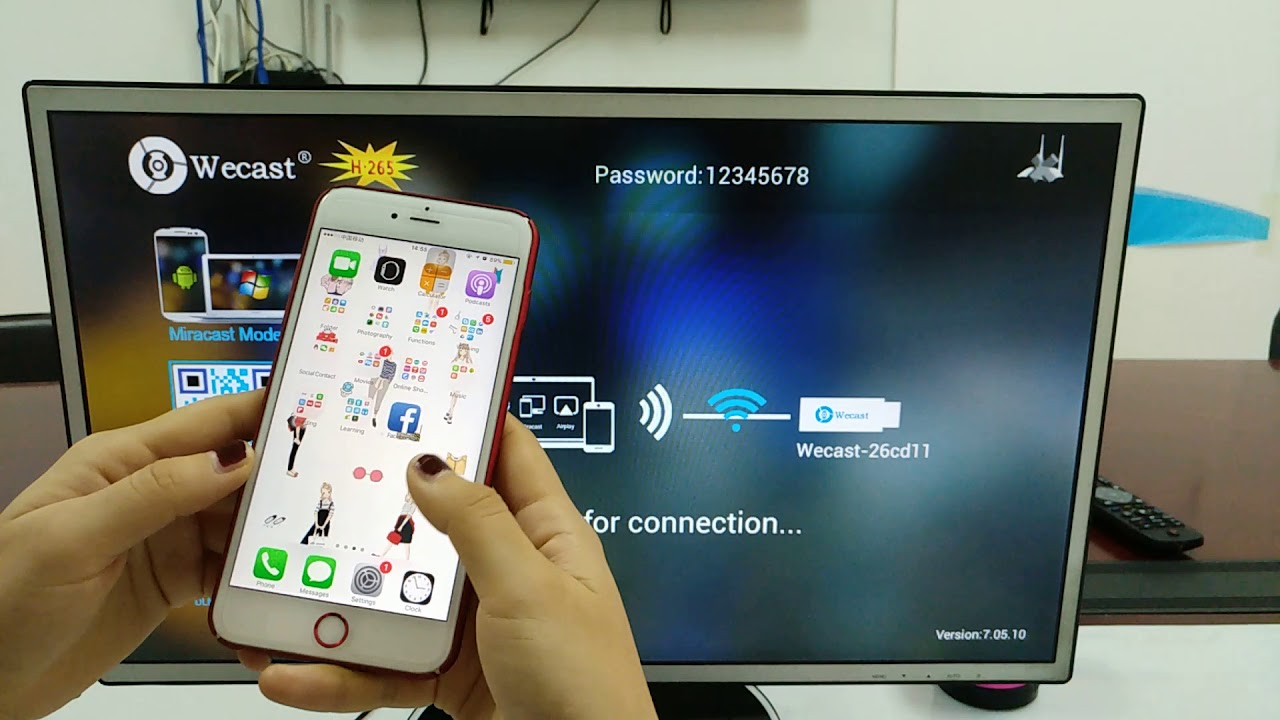 how to use the airplay mirroring,Wecast C2 no switch 3036 dual core