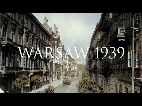 PRZEDWOJENNA WARSZAWA W KOLORZE   WARSAW 1939   REMASTERING CYFROWY