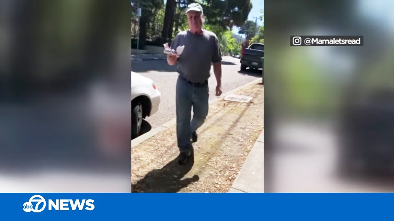 California woman films confrontation with man who ripped down Black Lives Matter signs