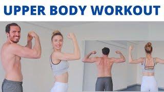 ÜST VÜCUT ANTRENMANI | SIRT, KOL, OMUZ | Upper Body Workout | FITINSANE |