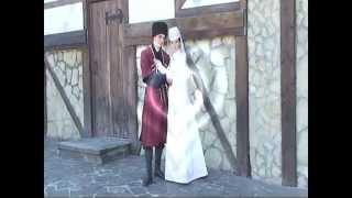 Видеозаставка к осетинской свадьбе.