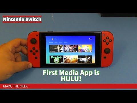 Nintendo Switch First Media App, HULU!