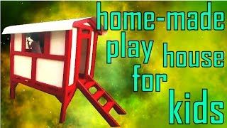 DIY | How to Build a Play House for Kids made a play house for my sisters kids. the dimensions are 4x4 Feet and made with 2x4