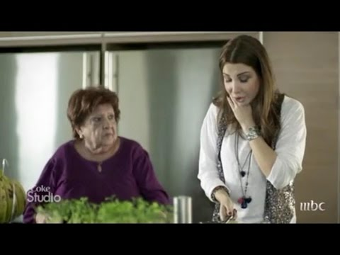 Nancy Ajram with Grandmother نانسی عجرم