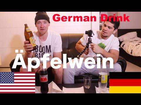 AMERICANS TRY GERMAN ÄPFELWEIN FOR THE FIRST TIME!