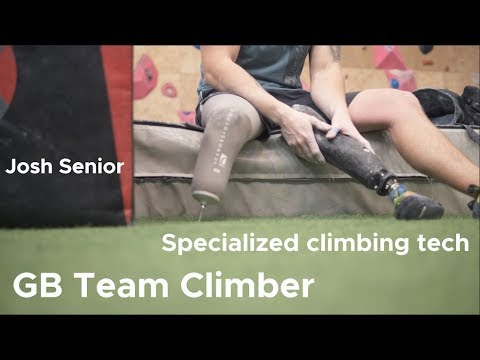 Climbing with ONE foot || Josh Senior Team GB climber